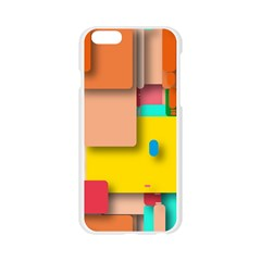 Rounded Rectangles Apple Seamless iPhone 6/6S Case (Transparent)