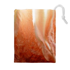 Floating Peach Drawstring Pouches (Extra Large)