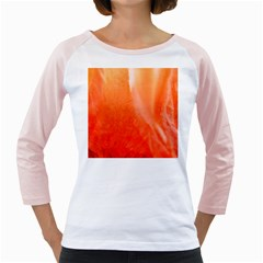 Floating Orange Girly Raglans