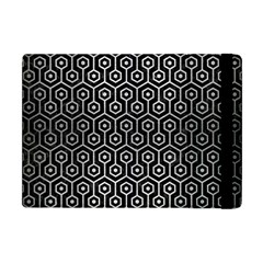 Hexagon1 Black Marble & Silver Brushed Metal Apple Ipad Mini Flip Case