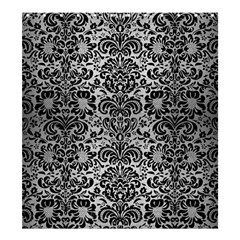 Damask2 Black Marble & Silver Brushed Metal (r) Shower Curtain 66  X 72  (large)