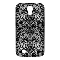 Damask2 Black Marble & Silver Brushed Metal (r) Samsung Galaxy Mega 6 3  I9200 Hardshell Case