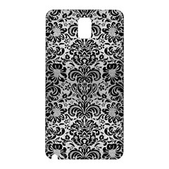 Damask2 Black Marble & Silver Brushed Metal (r) Samsung Galaxy Note 3 N9005 Hardshell Back Case