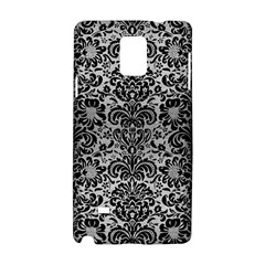 Damask2 Black Marble & Silver Brushed Metal (r) Samsung Galaxy Note 4 Hardshell Case