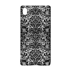 Damask2 Black Marble & Silver Brushed Metal (r) Sony Xperia Z3+ Hardshell Case