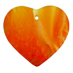 Floating Orange And Yellow Heart Ornament (2 Sides)