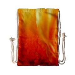 Floating Orange And Yellow Drawstring Bag (small)
