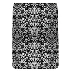 Damask2 Black Marble & Silver Brushed Metal Removable Flap Cover (s)