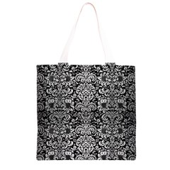 DMS2 BK MARBLE SILVER Grocery Light Tote Bag
