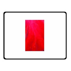 Red And Beautiful Double Sided Fleece Blanket (small)