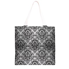 DMS1 BK MARBLE SILVER (R) Grocery Light Tote Bag
