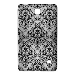 Damask1 Black Marble & Silver Brushed Metal (r) Samsung Galaxy Tab 4 (7 ) Hardshell Case