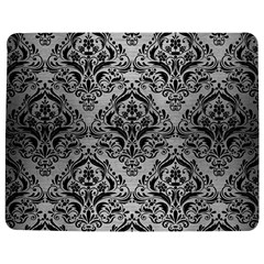 Damask1 Black Marble & Silver Brushed Metal (r) Jigsaw Puzzle Photo Stand (rectangular)
