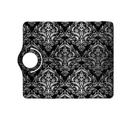 Damask1 Black Marble & Silver Brushed Metal Kindle Fire Hdx 8 9  Flip 360 Case