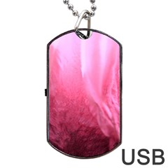 Floating Pink Dog Tag Usb Flash (two Sides)