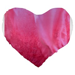 Floating Pink Large 19  Premium Flano Heart Shape Cushions