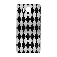 Diamond1 Black Marble & Silver Brushed Metal Samsung Galaxy Alpha Hardshell Back Case