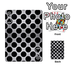Circles2 Black Marble & Silver Brushed Metal (r) Playing Cards 54 Designs