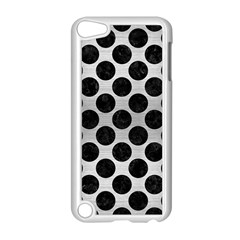 Circles2 Black Marble & Silver Brushed Metal (r) Apple Ipod Touch 5 Case (white)