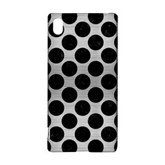 Circles2 Black Marble & Silver Brushed Metal (r) Sony Xperia Z3+ Hardshell Case