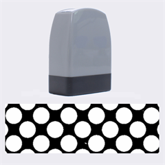 Circles2 Black Marble & Silver Brushed Metal Name Stamp