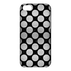 Circles2 Black Marble & Silver Brushed Metal Apple Iphone 5c Hardshell Case
