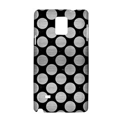 Circles2 Black Marble & Silver Brushed Metal Samsung Galaxy Note 4 Hardshell Case