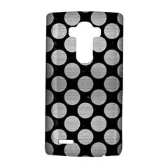 Circles2 Black Marble & Silver Brushed Metal Lg G4 Hardshell Case