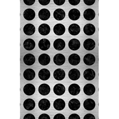 Circles1 Black Marble & Silver Brushed Metal (r) 5 5  X 8 5  Notebook