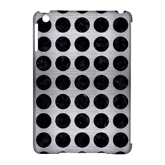 Circles1 Black Marble & Silver Brushed Metal (r) Apple Ipad Mini Hardshell Case (compatible With Smart Cover)