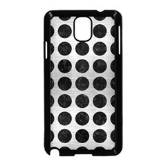 Circles1 Black Marble & Silver Brushed Metal (r) Samsung Galaxy Note 3 Neo Hardshell Case (black)