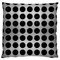 Circles1 Black Marble & Silver Brushed Metal (r) Standard Flano Cushion Case (one Side)