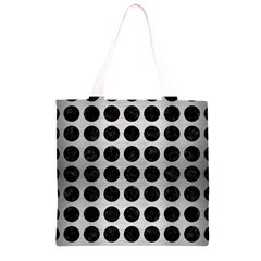 CIR1 BK MARBLE SILVER (R) Grocery Light Tote Bag