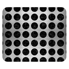 Circles1 Black Marble & Silver Brushed Metal (r) Double Sided Flano Blanket (small)