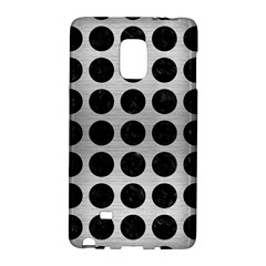 Circles1 Black Marble & Silver Brushed Metal (r) Samsung Galaxy Note Edge Hardshell Case