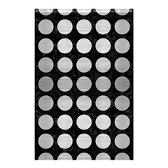 Circles1 Black Marble & Silver Brushed Metal Shower Curtain 48  X 72  (small)