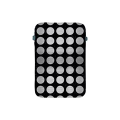 Circles1 Black Marble & Silver Brushed Metal Apple Ipad Mini Protective Soft Case