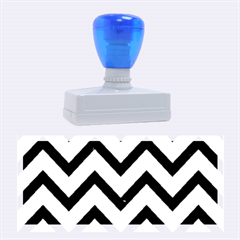 Chevron9 Black Marble & Silver Brushed Metal (r) Rubber Stamp (large)