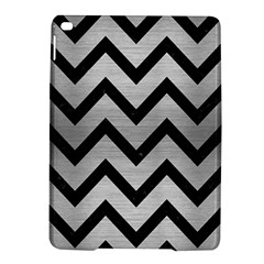 Chevron9 Black Marble & Silver Brushed Metal (r) Apple Ipad Air 2 Hardshell Case