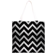 CHV9 BK MARBLE SILVER Grocery Light Tote Bag