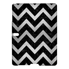 Chevron9 Black Marble & Silver Brushed Metal Samsung Galaxy Tab S (10 5 ) Hardshell Case