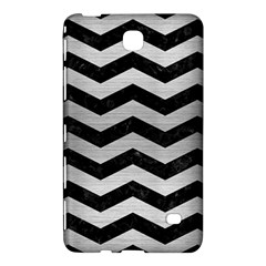 Chevron3 Black Marble & Silver Brushed Metal Samsung Galaxy Tab 4 (7 ) Hardshell Case