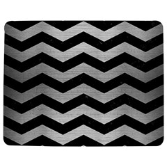 Chevron3 Black Marble & Silver Brushed Metal Jigsaw Puzzle Photo Stand (rectangular)