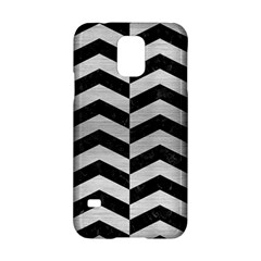 Chevron2 Black Marble & Silver Brushed Metal Samsung Galaxy S5 Hardshell Case