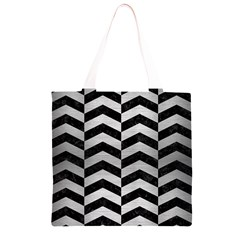 CHV2 BK MARBLE SILVER Grocery Light Tote Bag