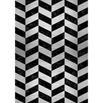 CHEVRON1 BLACK MARBLE & SILVER BRUSHED METAL TAKE CARE 3D Greeting Card (7x5) Inside