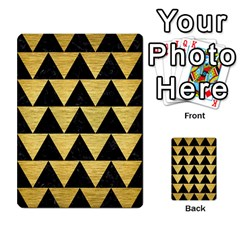 Triangle2 Black Marble & Gold Brushed Metal Multi Purpose Cards (rectangle)