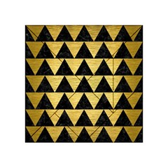 Triangle2 Black Marble & Gold Brushed Metal Acrylic Tangram Puzzle (4  X 4 )