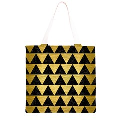 TRI2 BK MARBLE GOLD Grocery Light Tote Bag