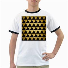 Triangle3 Black Marble & Gold Brushed Metal Ringer T